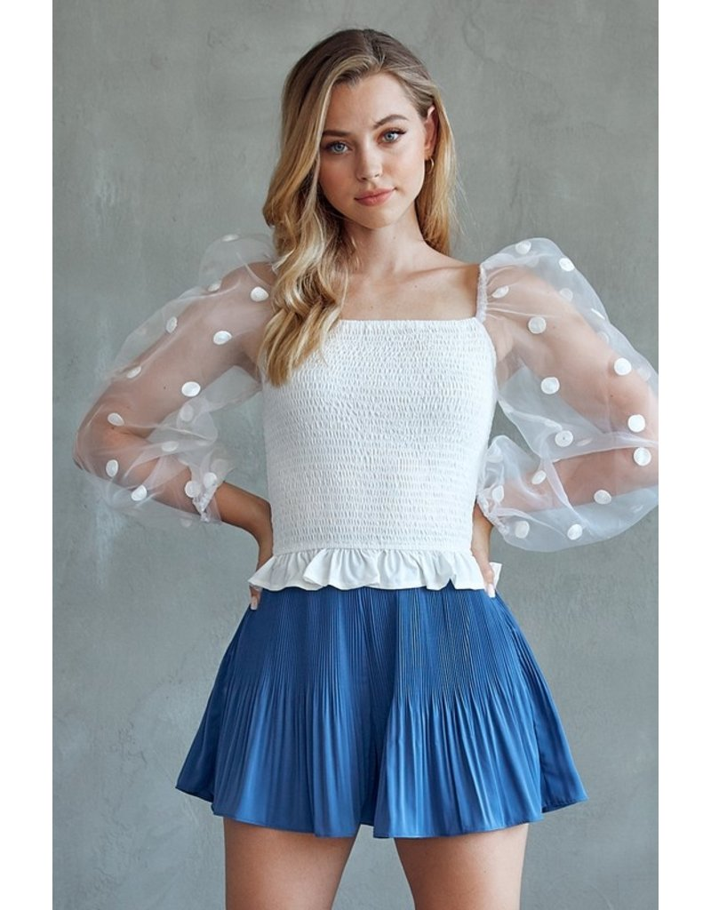 Skirts 62 Dressy Pleated Blue Skort