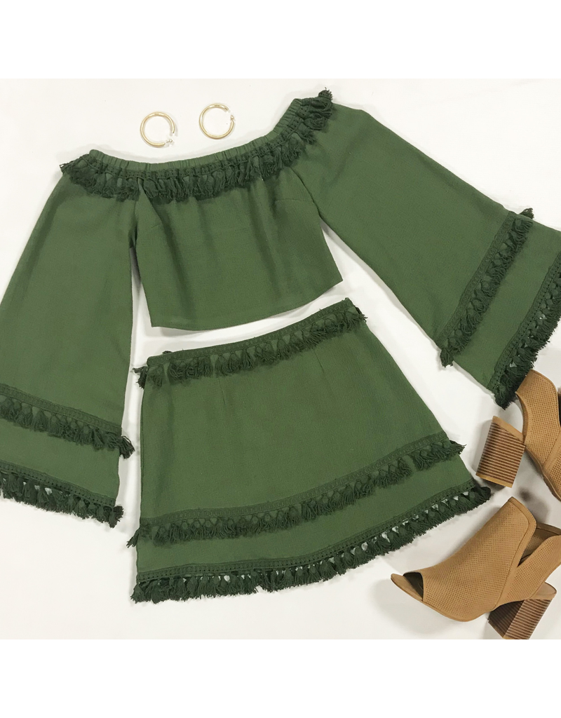 Tops 66 Fall With Me Olive Top