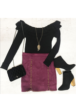 Skirts 62 Winter Suede And Studded Skirt