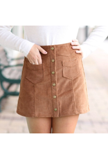 Skirts 62 Trend Setter Brown Corduroy Skirt