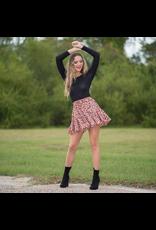 Skirts 62 Spotted Pumpkin/Black Ruffle Skirt