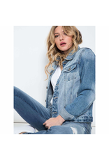 Outerwear KanCan Denim and Distressed Jean Jacket