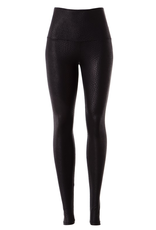 Pants 46 High Waist Black Snake Texture Leather Leggings