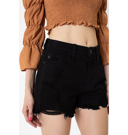 Shorts 58 KanCan High Waisted Black Distressed Denim Shorts