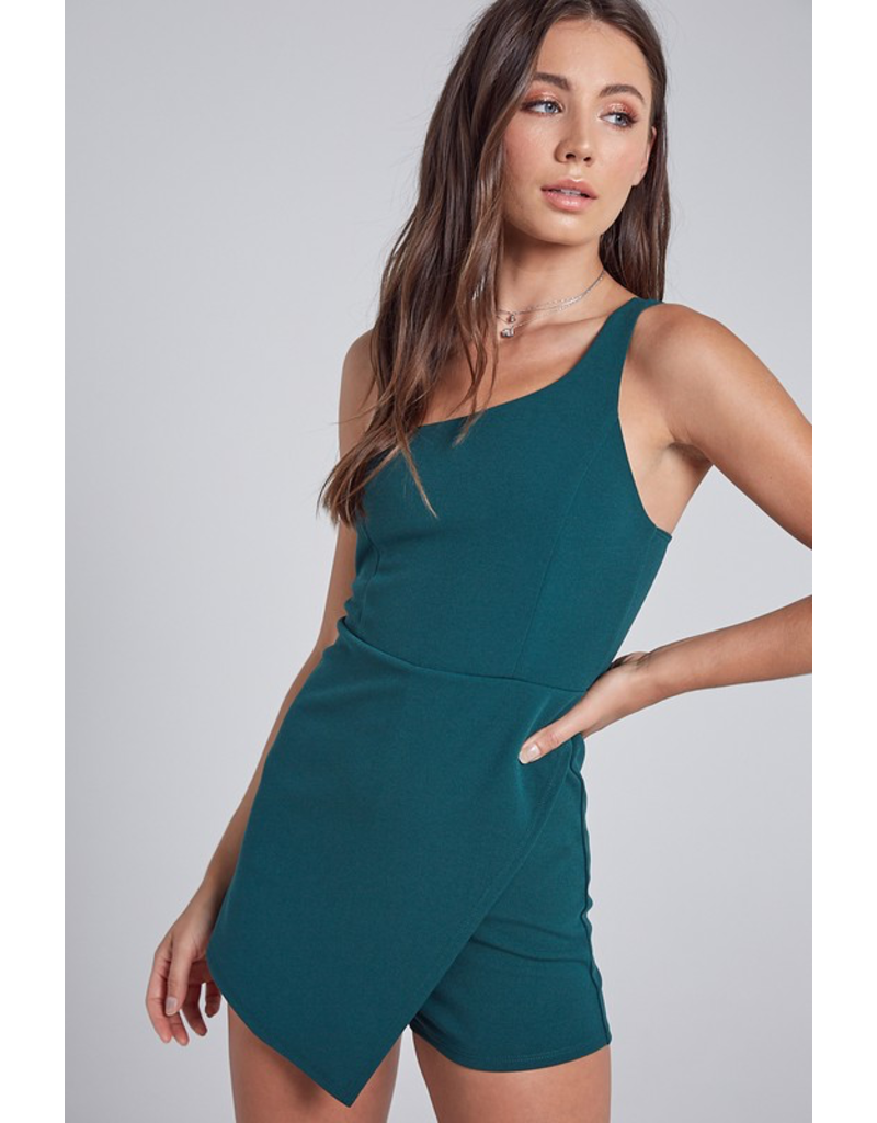 Rompers 48 One Shoulder Spruce Green Romper