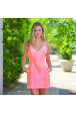 Dresses 22 All Dressed Up Neon Pink Dress