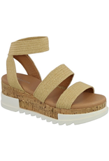 Shoes 54 Natural Raffia Cork Bottom Sandal
