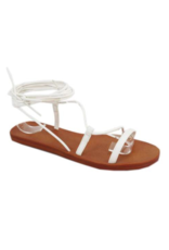 Shoes 54 Dance In The Sun White Wrap Sandal