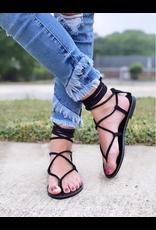 Shoes 54 Wrap Up Black Summer Sandal