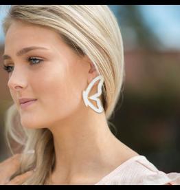 Jewelry 34 White Butterfly Earrings
