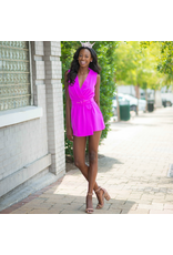 Rompers 48 Now Or Never Magenta Belted Romper