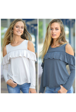 Tops 66 Ruffle Detail Modal Top