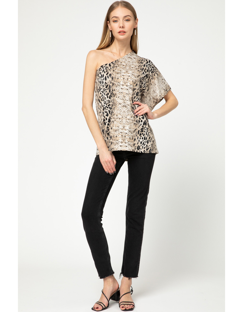 Tops 66 One Shoulder Snake Top