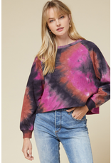 Tops 66 Fall Forecast Tie Dye Cropped Pullover