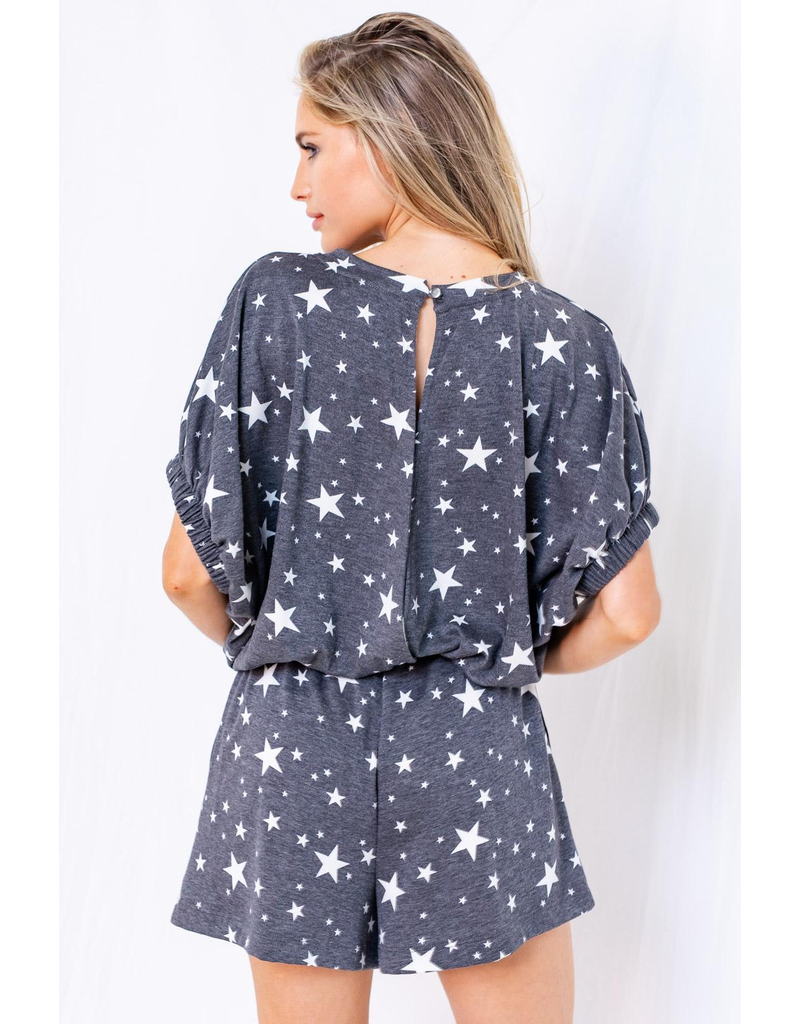 Rompers 48 Star Power Charcoal/White Romper