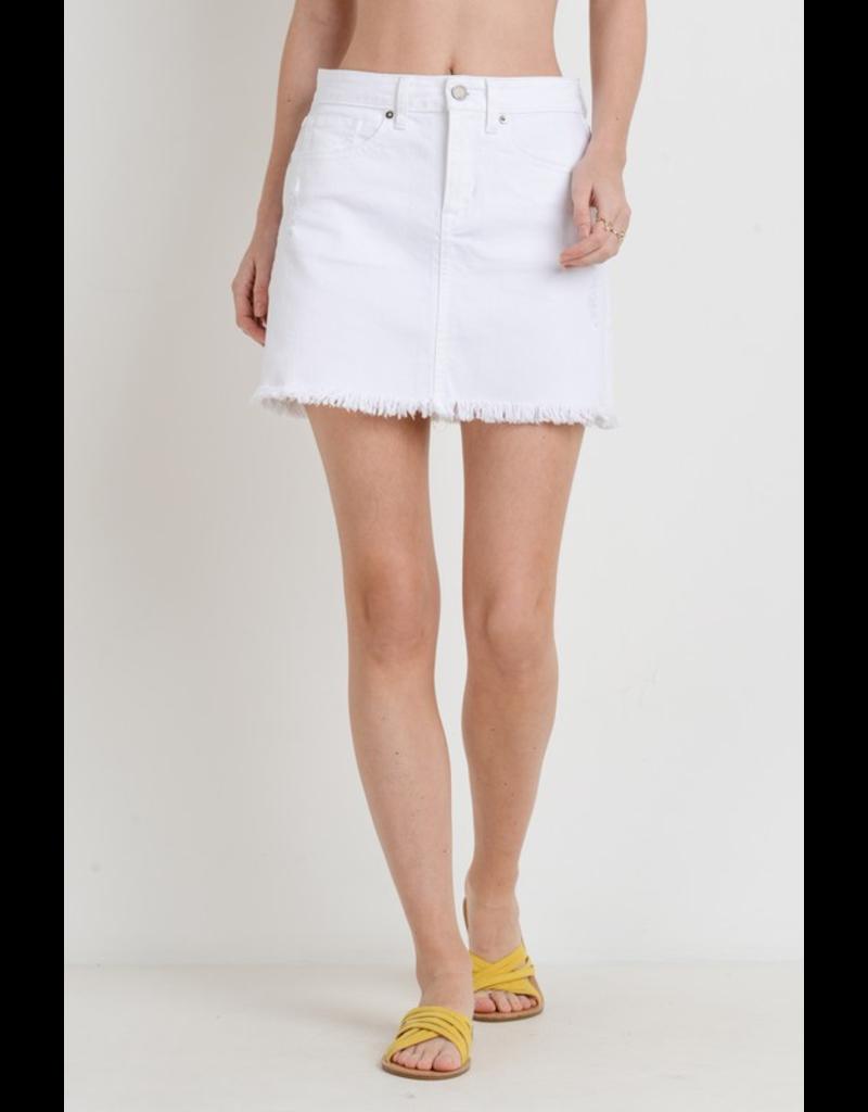Skirts 62 Fun In The Sun White Frayed Skirt