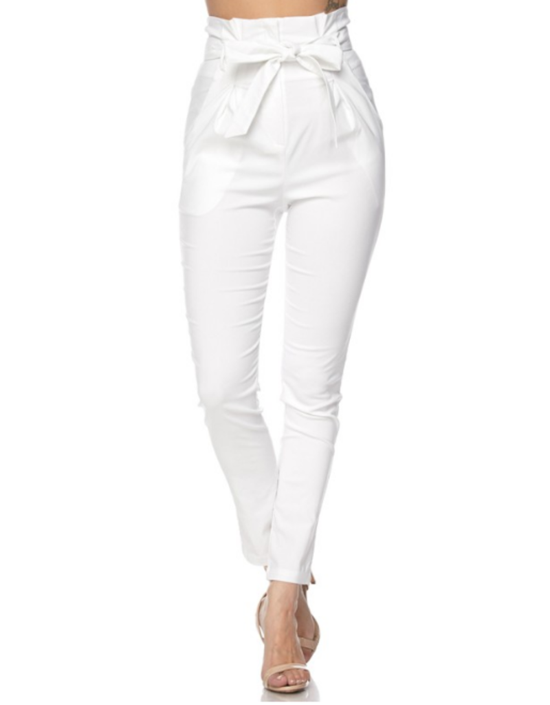 Pants 46 No Limits High Waisted PaperBag White Pants