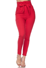 Pants 46 No Limits High Waisted PaperBag Red Pants