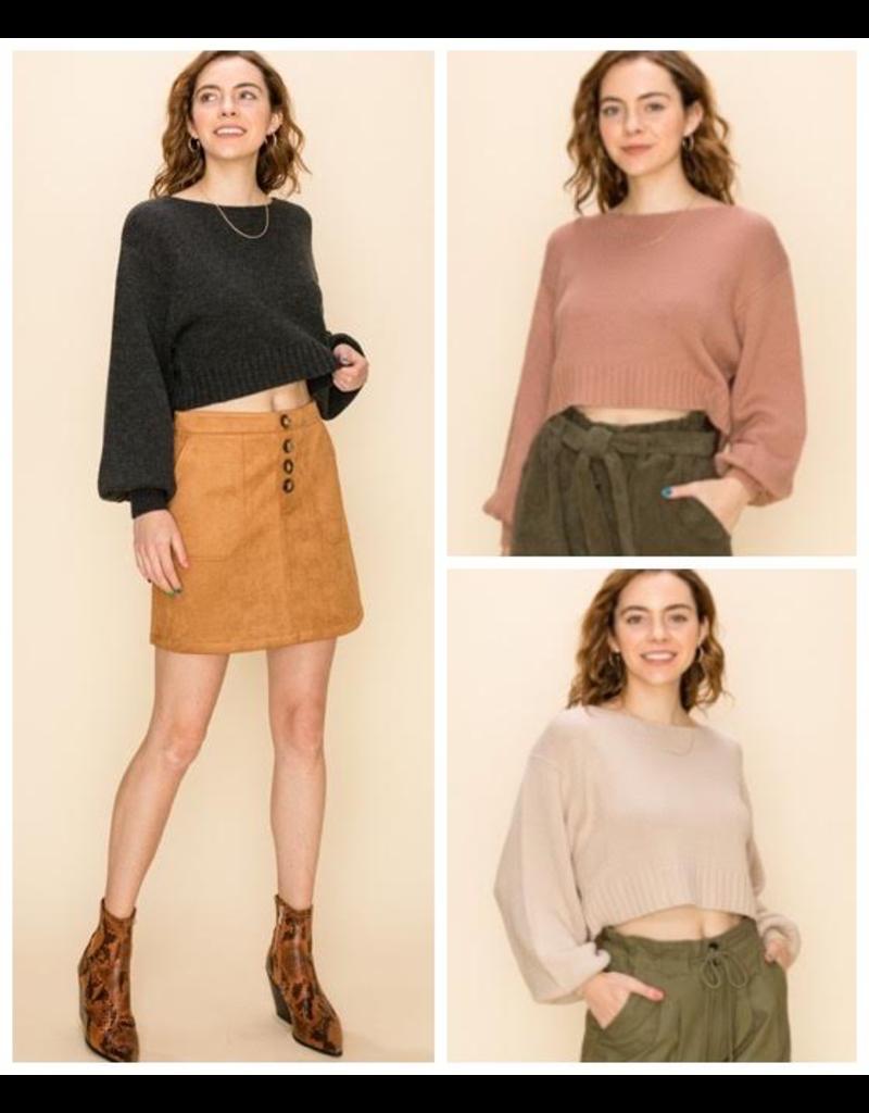 Tops 66 Fall Crop Sweater
