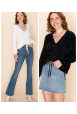 Tops 66 Fuzzy Does It Cinched Sweater