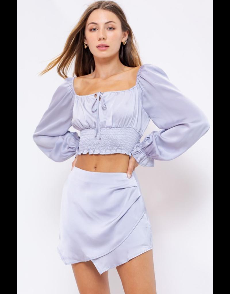 Skirts 62 Silver Lining Satin Skort