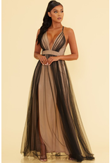 Dresses 22 Tulle Occassion Black/Nude Formal Dress