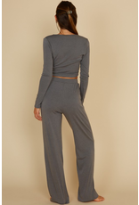 Tops 66 Cozy Cute Charcoal Two Piece Set
