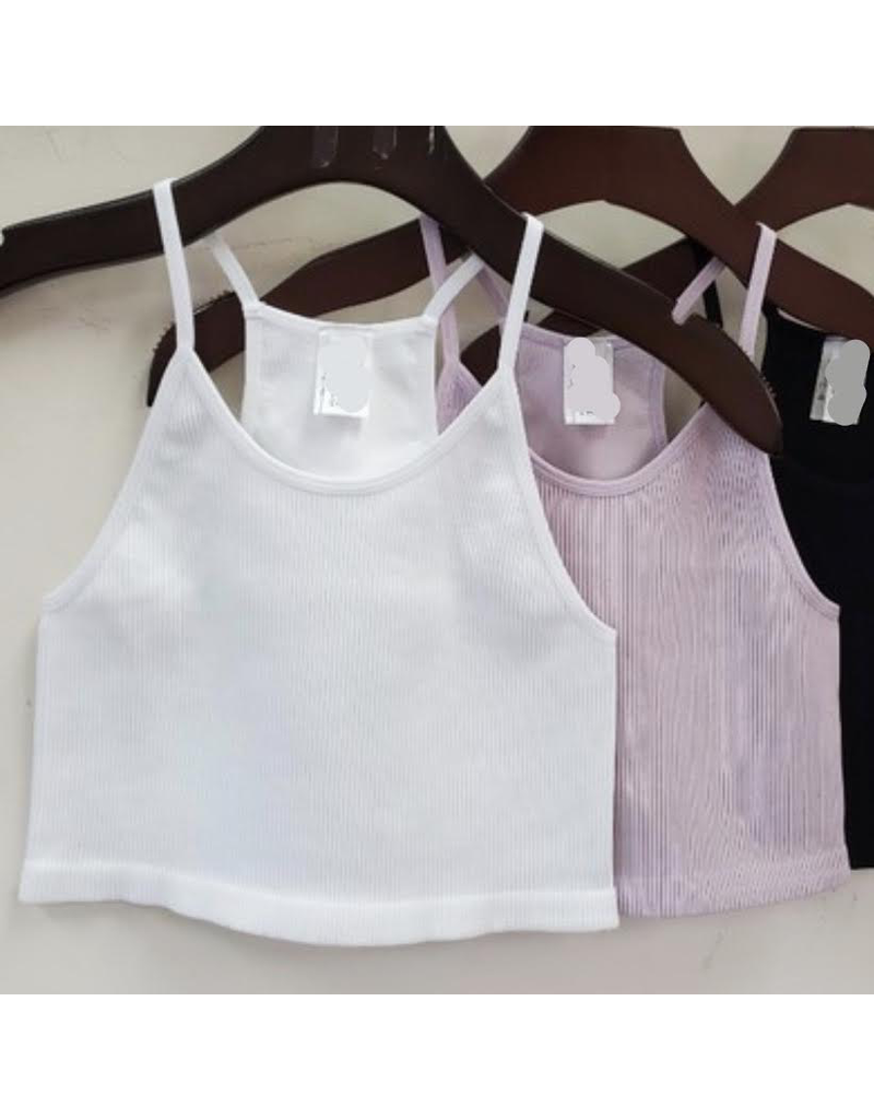 Tops 66 Rib Knit Lavender Bra Top