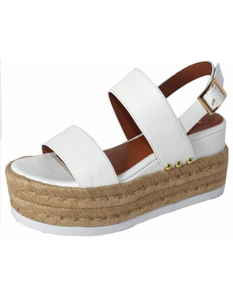 Shoes 54 White Summer Espadrille