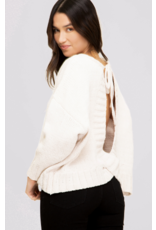 Tops 66 Open Back Ivory Sweater
