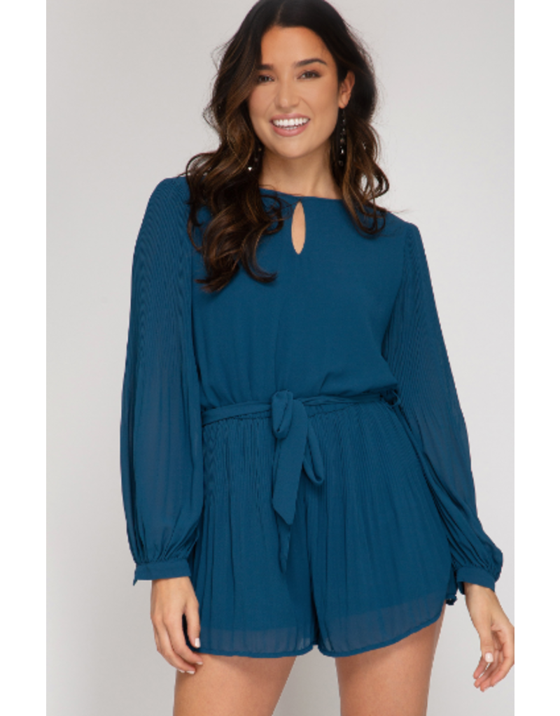 Rompers 48 Fall Hues Teal Romper