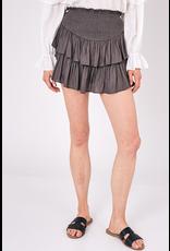 Skirts 62 Smocked Charcoal Skort