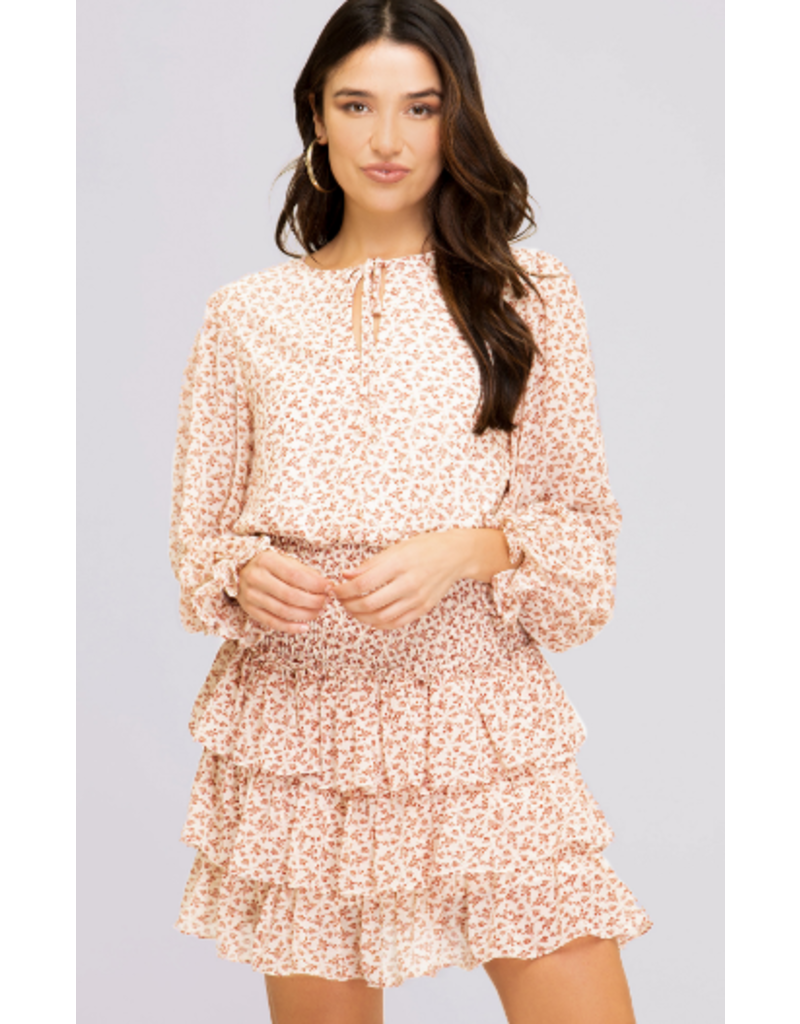 Dresses 22 Falling For It Floral Smock Ruffel Dress