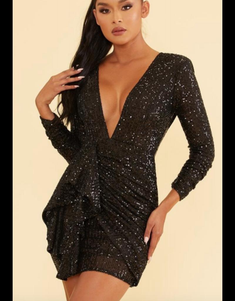 Dresses 22 Party Right Black Sequin Dress
