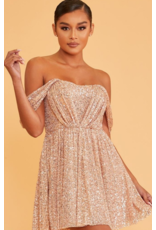 Dresses 22 Party All Night Rose Gold Sequin Dress
