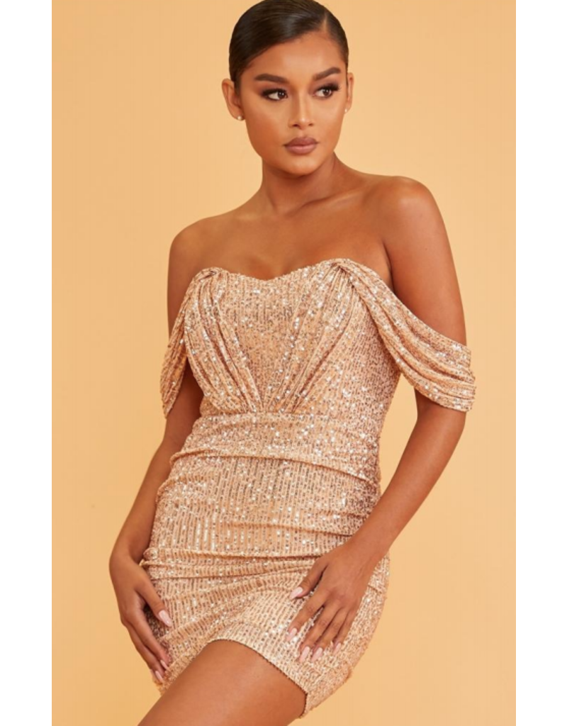 Dresses 22 My Night To Shine Rose Gold Sequin Dress