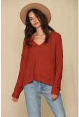 Tops 66 Full On Fall Rust Sweater