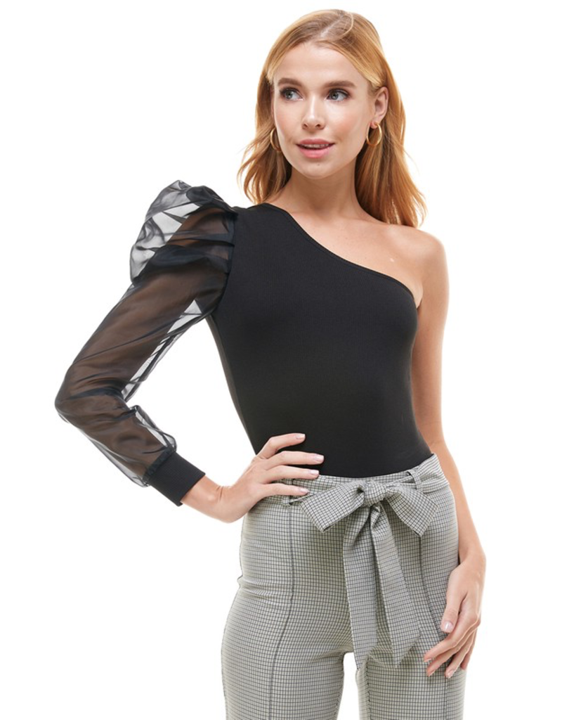 Tops 66 Ready To Party One Shoulder Bodysuit