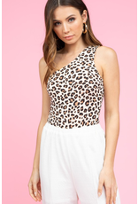 Tops 66 Cheetah One Shoulder Bodysuit