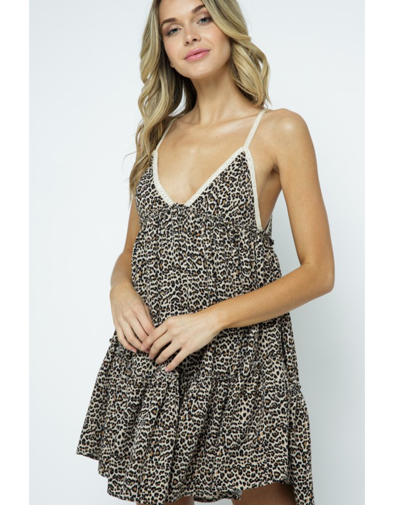 Dresses 22 Leopard Love Baby Doll Tie Back Dress