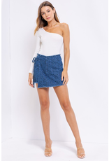 Skirts 62 Leopard Wrap Blue Skort