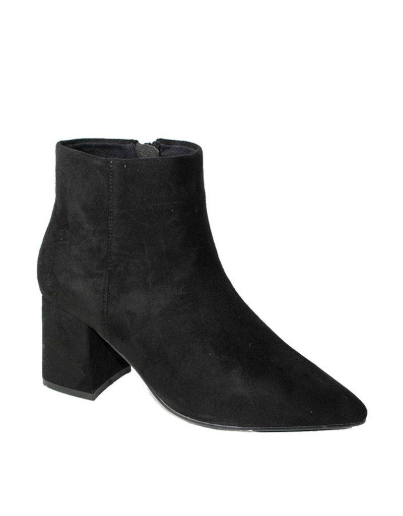 Shoes 54 Black Suede Bootie