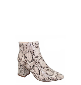 Shoes 54 Beige Snake Bootie
