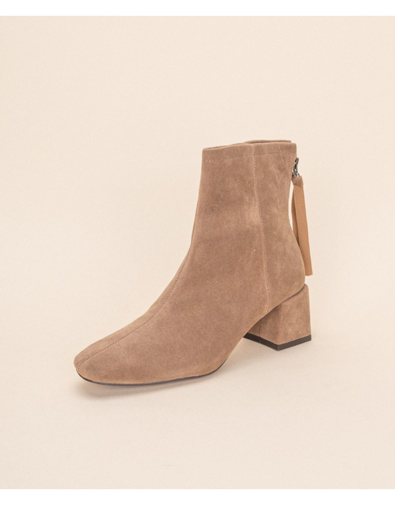 Shoes 54 Taupe Suede Bootie