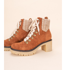 Shoes 54 Rust and Plaid Lace Up Combat Boot