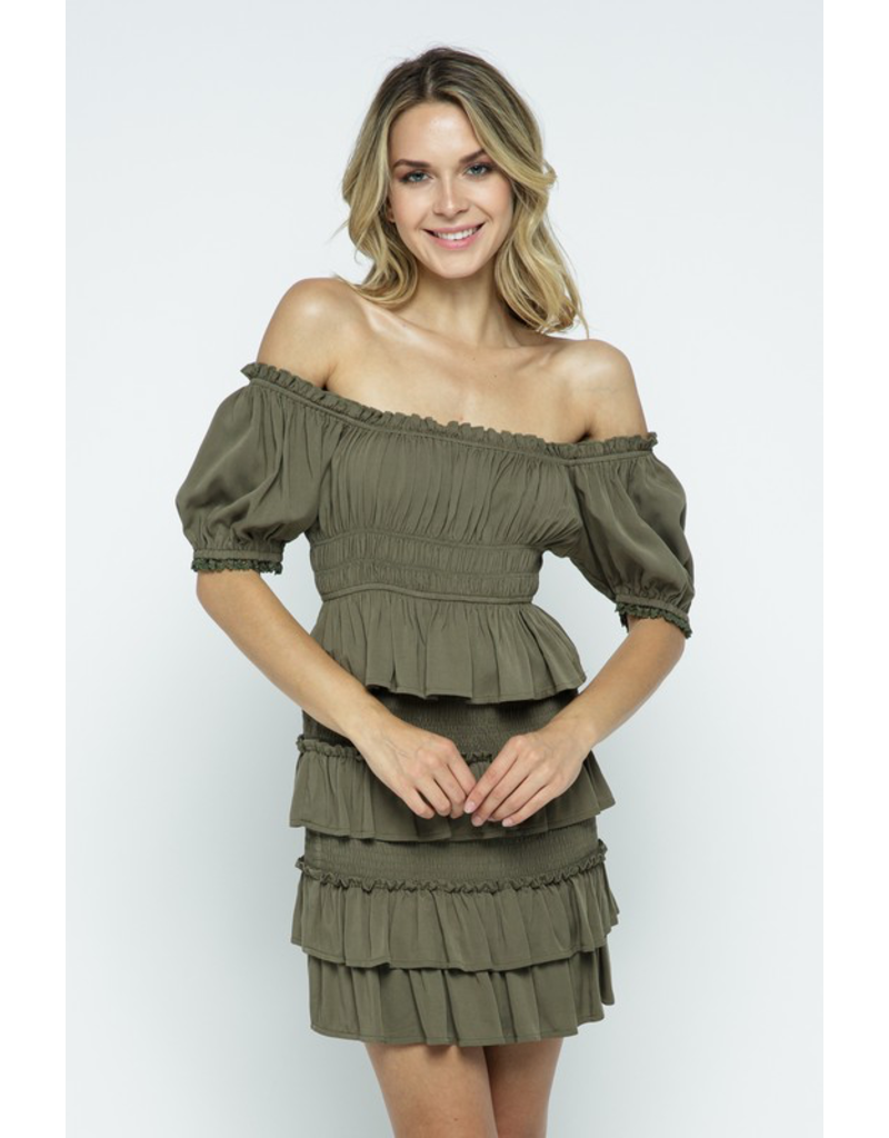 Tops 66 Olive You Smock Top