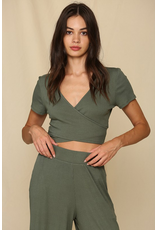 Tops 66 Olive You Very Much Crop Top