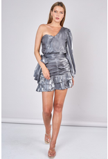 Skirts 62 Party Time Satin Silver Skirt
