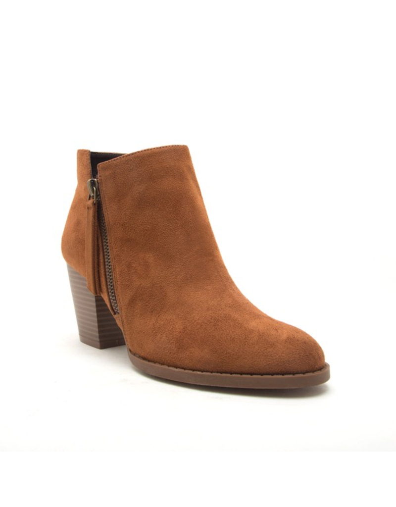 Shoes 54 Get Going Tan Suede Bootie
