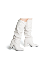 Shoes 54 Tall White Boot